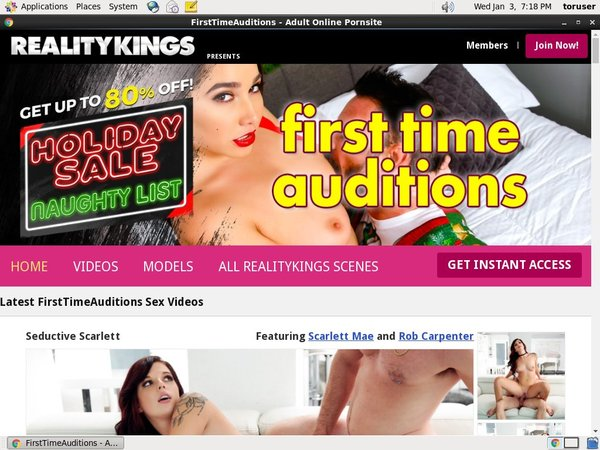Free First Time Auditions Password Account