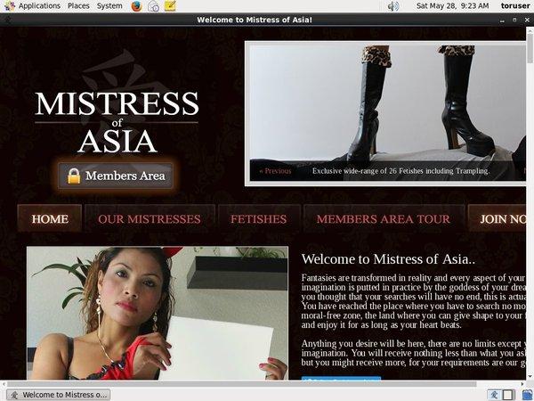 Members Mistress Of Asia
