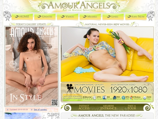 Amour Angels Signup Page