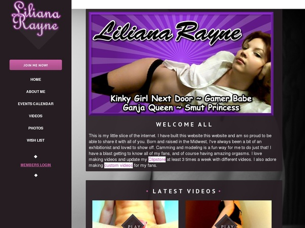 Account For LilianaRayne Free
