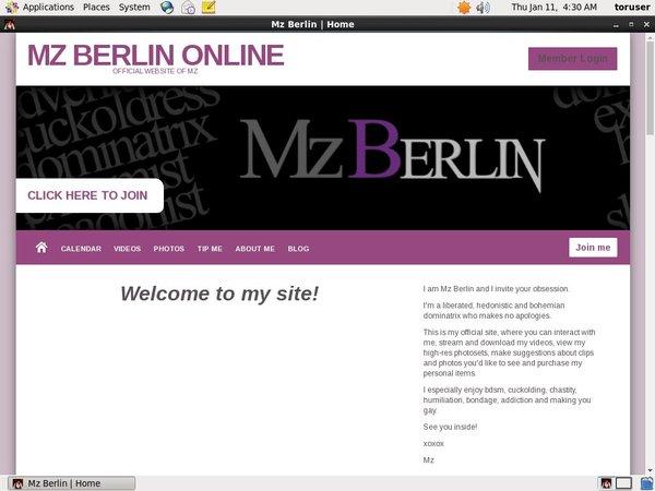 MzBerlin Passwords