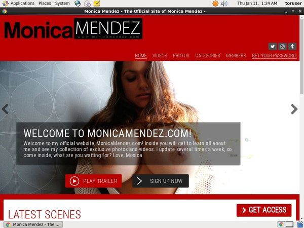 Monica Mendez With Master Card