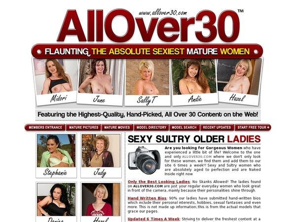 Allover30.com New Password