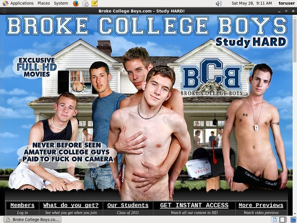 Brokecollegeboys.com With Mastercard