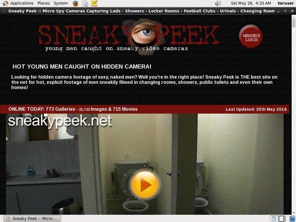 Sneaky Peek Xxx