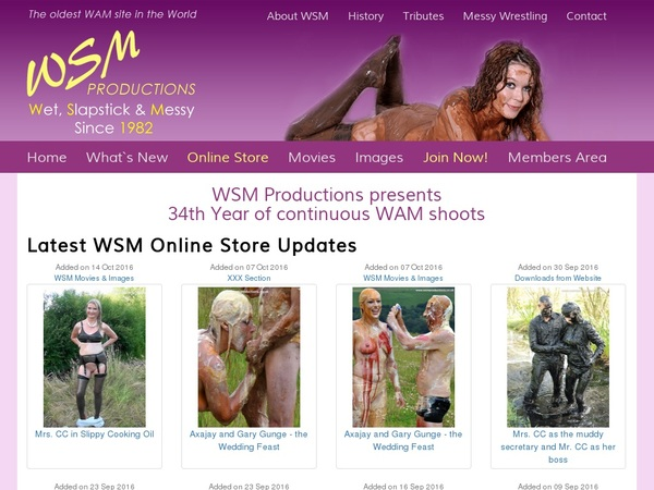 Mobile Wsmproductions.co.uk Account