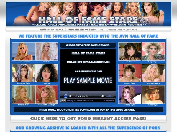Hall Of Fame Stars Network