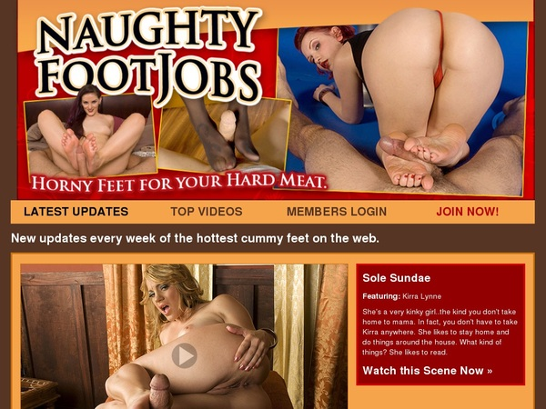 Create Naughtyfootjobs.com Account