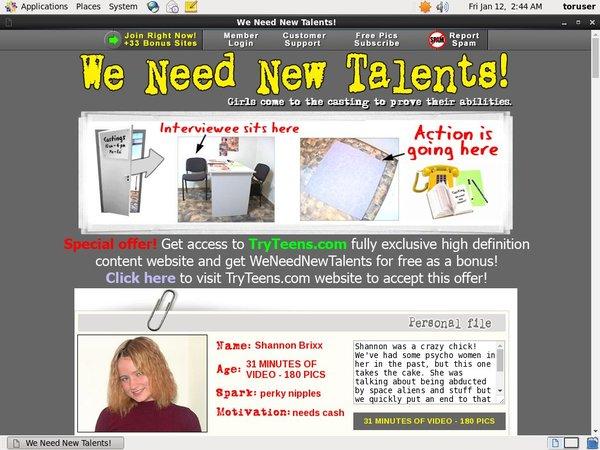New Weneednewtalents