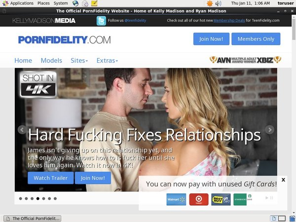 Pornfidelity Signup Form